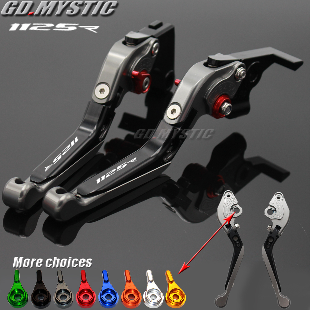 For <font><b>Buell</b></font> 1125R <font><b>1125</b></font> R 2008 2009 CNC Adjustable Folding Extendable Motorcycle Brake Clutch Levers 20 Colors image