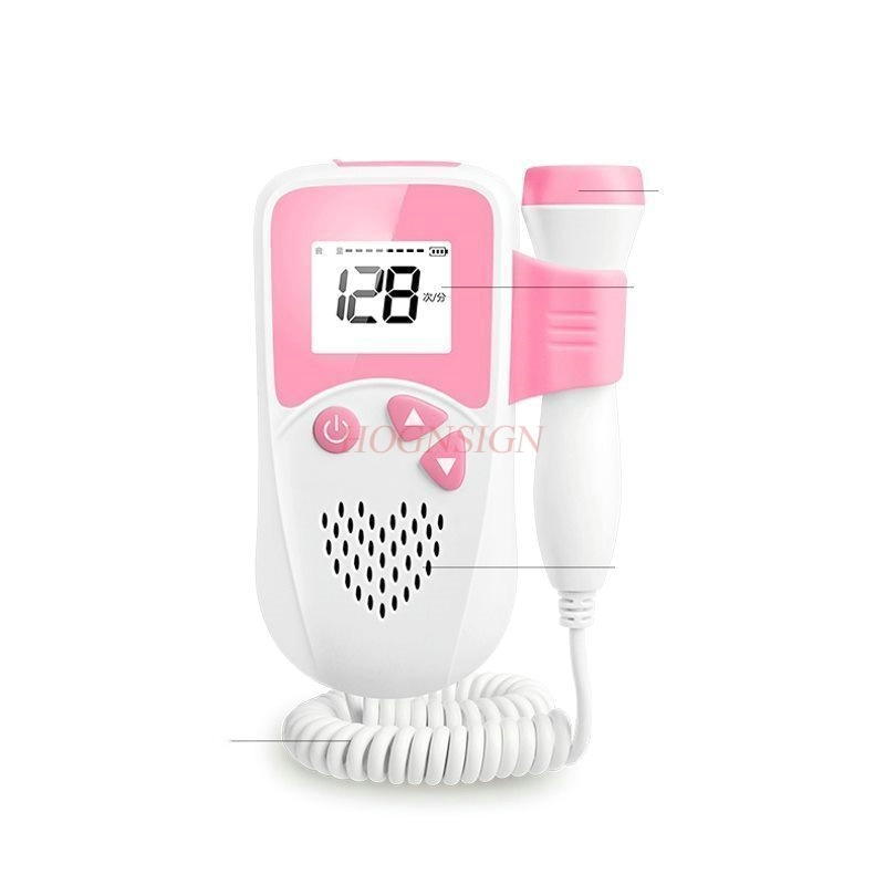 Radiation-free fetal heart rate home fetal monitoring pregnant women monitor stethoscope fetal fetal language ultrasound fetal movement monitoring pregnancy monitor doppler home pregnant women heart rate language instrument no radiation