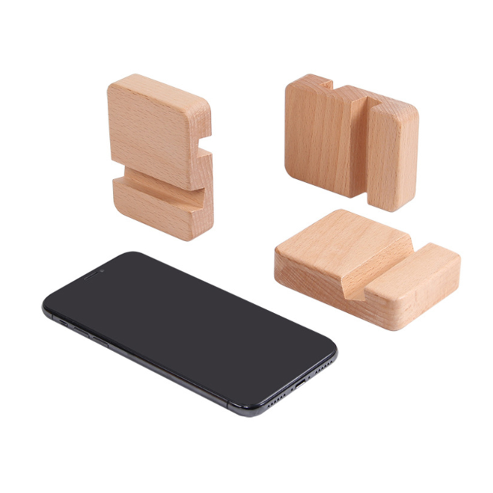 Phone Holder Stand For IPhone Xr Xs X 8 Wooden Mobile Phone Stand For Samsung S9 S8 IPad Tablet Stand Desk Phone Holder