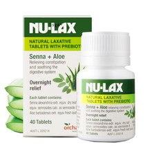 Австралия NuLax природные слабительные таблетки с предбиотическим запором лечение ночь рельеф стимулирующий эвакуации кишечника
