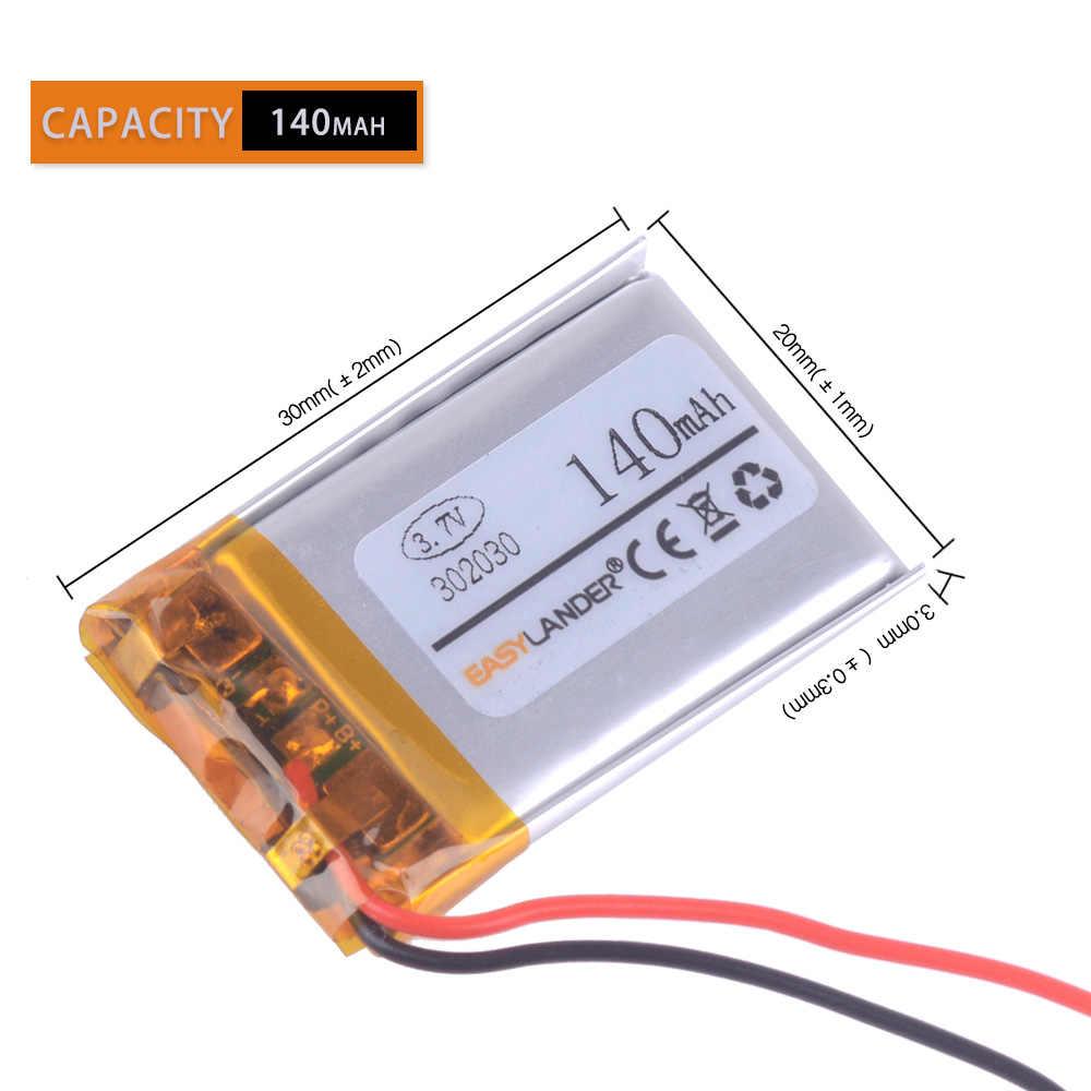 3.7 V lithium batterij 302030 032030 140 mah MP3 MP4 GPS Bluetooth cell batterij speelgoed griffier navigator video speler