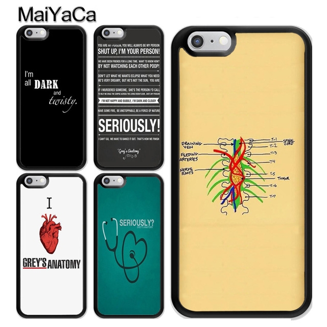 e29483073cf MaiYaCa Grey's Anatomy QUOTES TPU Case For iphone X XR XS MAX Case For  iphone 6S 6 7 8 Plus 5s SE Cover Soft Rubber Phone Cases