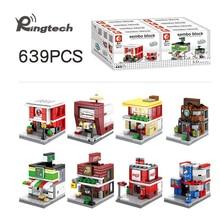 Ringtech-SEMBO блок 3D модель миниатюрный Building BLOCK city мини-уличный Совместимость