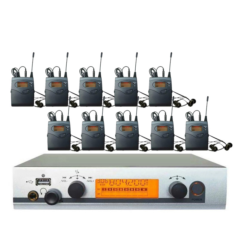 10 Receivers in ear monitor system Wireless Ew300 IEM G3 Professional ear monitoring system for Resale Wholesaler Pro iem system 2 receivers 60 buzzers wireless restaurant buzzer caller table call calling button waiter pager system