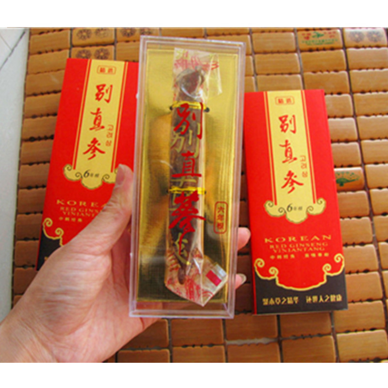 6 Years old Korean Red Ginseng Root 150g 5 roots