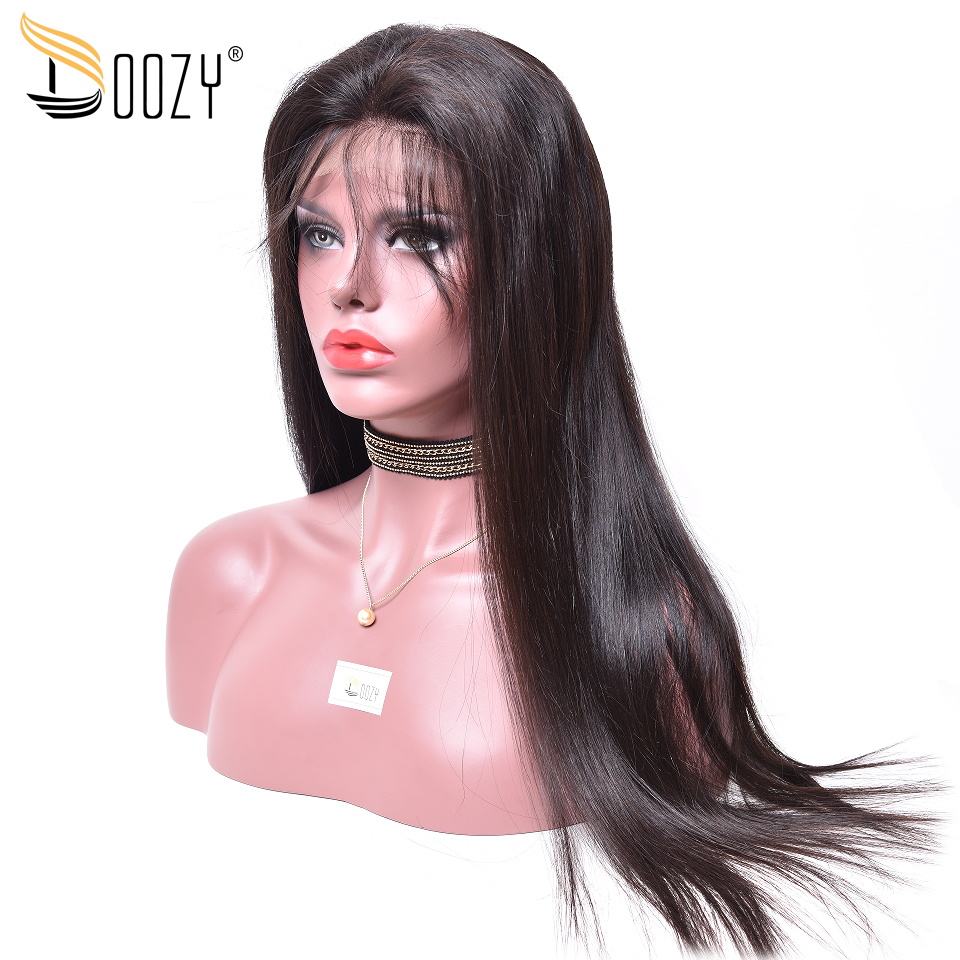 Doozy Human Hair Wigs 10-30 Pre Plucked Natural Color Remy Straight Brazilian Hair Full Lace Wig