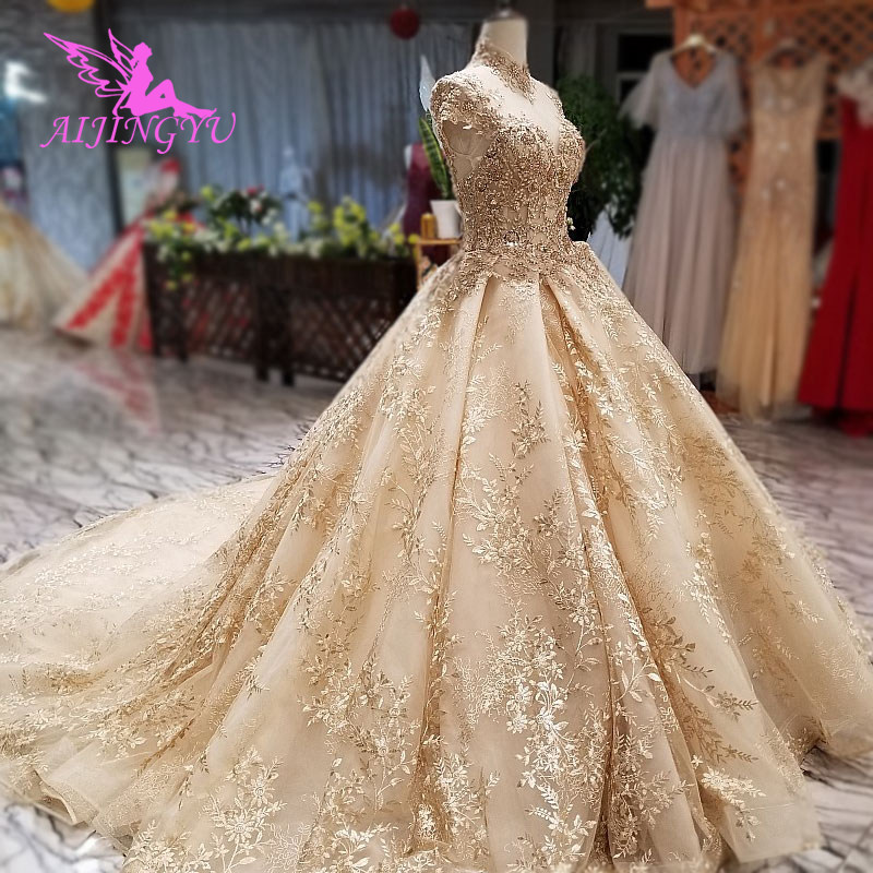 Shop Wedding Gowns: AIJINGYU Muslim Wedding Dresses Asian Gowns Long Train