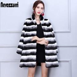 Nerazzurri Winter Chinchilla Bontjas Vrouwen Mode 2019 Runway Luxe Lange Mouwen Thicken Plus Size Faux Fur jas 5xl 6xl