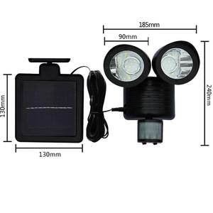 Image 2 - Binval שמש מנורת 2 ראש חיישן עמיד למים 22LED גן חיצוני פאטיו חצר שמש LED אורות גן קישוט
