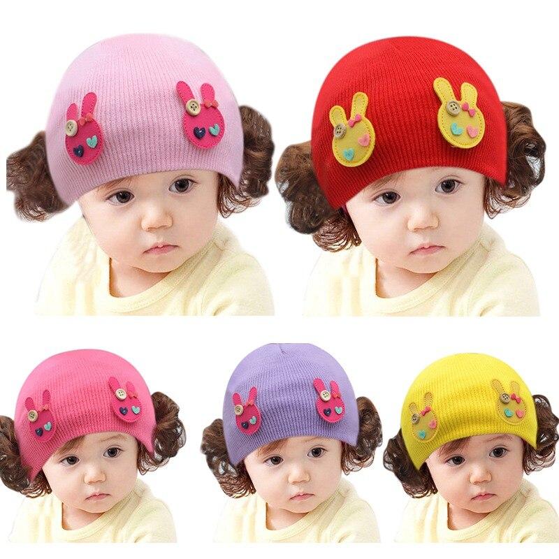Headwear Baby Hats For Girls Baby Girls Boys Toddlers Infant Baby Headband Hair Band Headwear Wig Hat Czapki Dla Dzieci #4s3 Accessories Hats & Caps