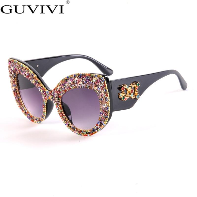 Fashion Brand Cat Eye Luxury Sunglasses Woman Shades Mirror Female Rhinestone Sun Glasses For Female Coating Gafas UV400 in Women 39 s Sunglasses from Apparel Accessories