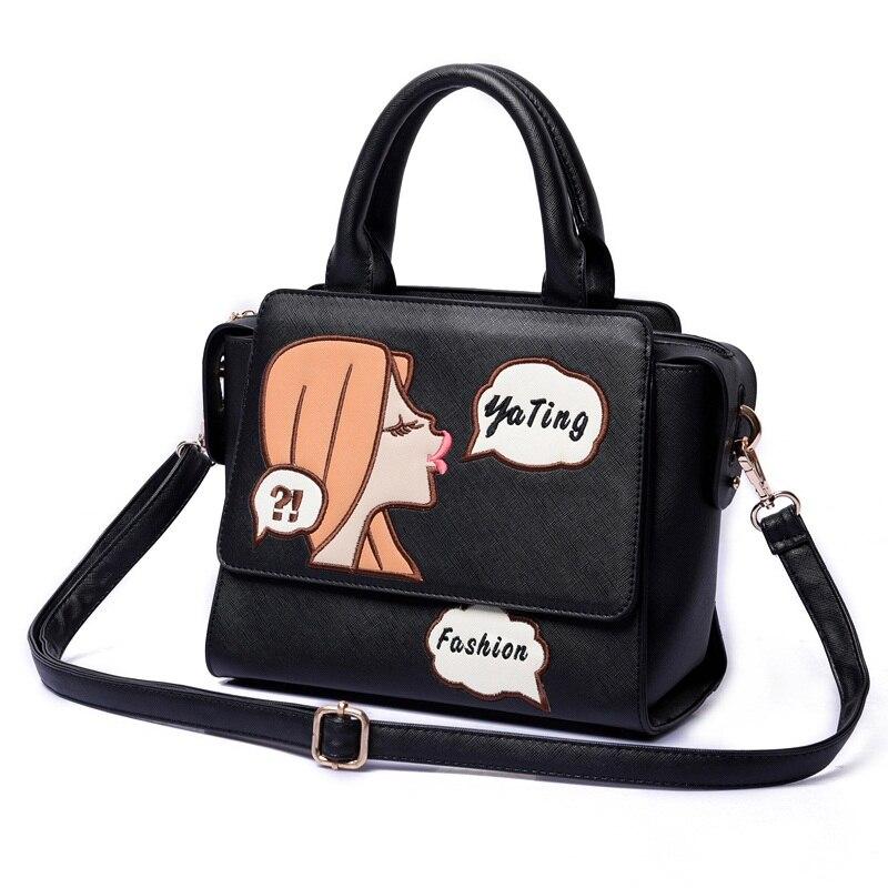 Our bags 2018 autumn and winter fashion handbags adorable girl fun Shoulder Bag Messenger Bag