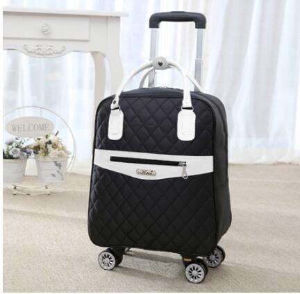 Bagaj ve Çantalar'ten Seyahat Çantaları'de Tekerlekli çanta seyahat Kadınlar için seyahat sırt çantası tekerlekler ile tekerlekli çantalar Oxford büyük kapasiteli Seyahat Haddeleme Bagaj Bavul Çantası'da  Grup 2