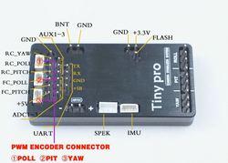 TinyPro 3 osi kontroler gimbal BGC 32bit mini BGC Alexmos BaseCam elektroniki proste z enkoderami i 20608 IMU czujnik