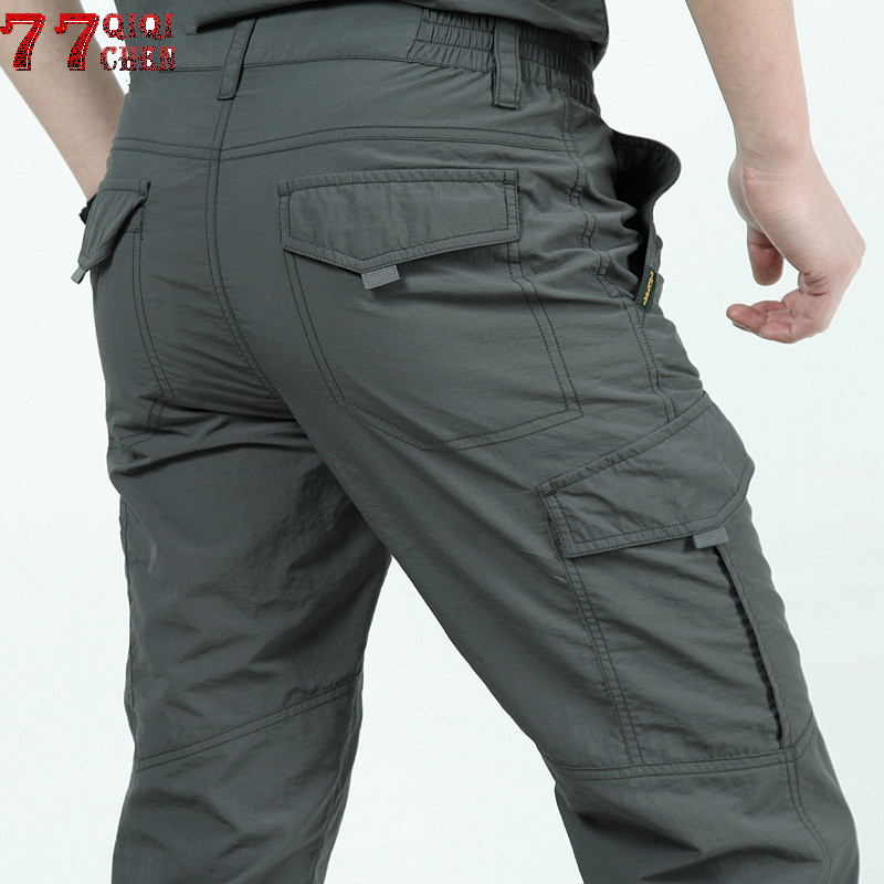 Quick Dry Casual Pants Men Summer Army Military Breathable lightweight Waterproof Tactical Pants Men's Trousers Cargo Pant Male(China)
