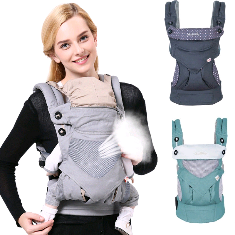 Adjustable 0 36M Ergonomic Baby Carriers Backpack Portable Baby Sling Wrap Cotton Manduca Infant Newborn Kangaroo Bag Hipseat-in Backpacks & Carriers from Mother & Kids on AliExpress