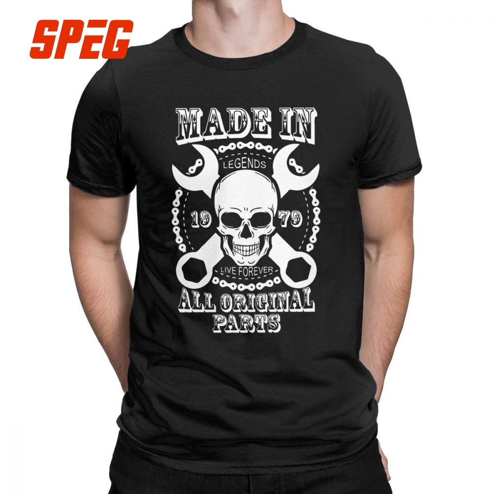 Made In 1979 All Original Parts T Shirts for Men 1979 Newest Clothes Funny T Shirt Crew Neck Pure Cotton Tees-in T-Shirts from Men's Clothing on AliExpress - 11.11_Double 11_Singles' Day 1