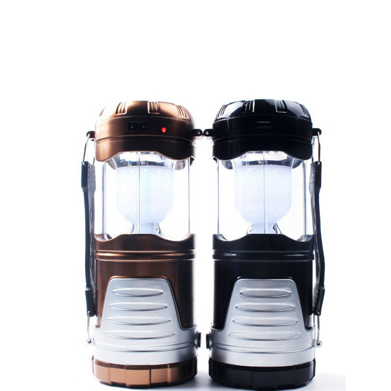 LED Camping Hand Lantern Solar Energy & USB Charging Flashlights Household Emergency Lighting Lamp Outdoor Handed Searchlight