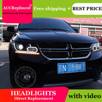 Car Styling for Fiat Freemont LED Headlight JCUV Headlights LED DRL Lens Double Beam H7 HID Xenon bi xenon lens