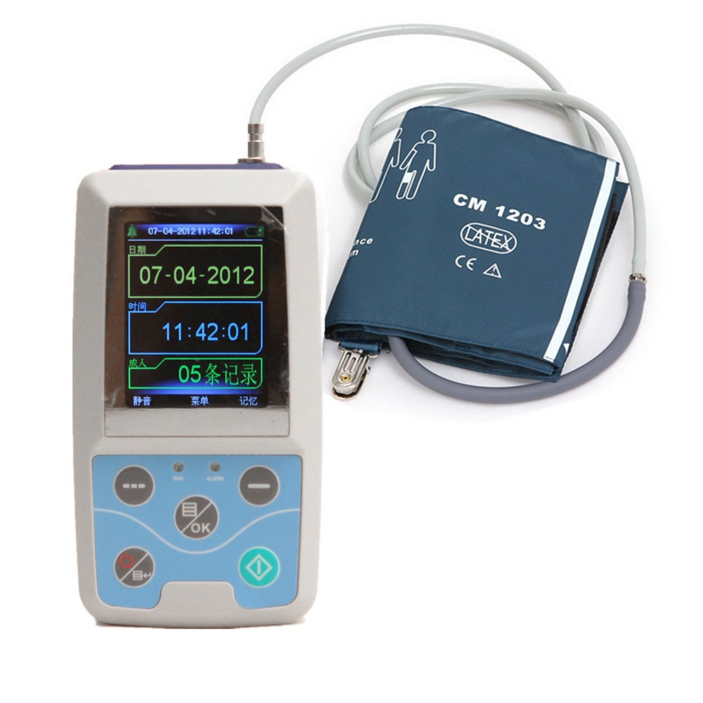 ABPM50 24 hours Ambulatory Blood Pressure Monitor Holter ABPM Holter BP Monitor with software contec free 6 cuffs contec manufacturer shipping abpm50 24 hours ambulatory automatic blood pressure monitor nibp ce approved