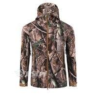 TAD мягкой оболочки военной камуфляжные куртки Для мужчин с капюшоном Водонепроницаемый тактическая куртка зима теплая армия верхняя одежд...