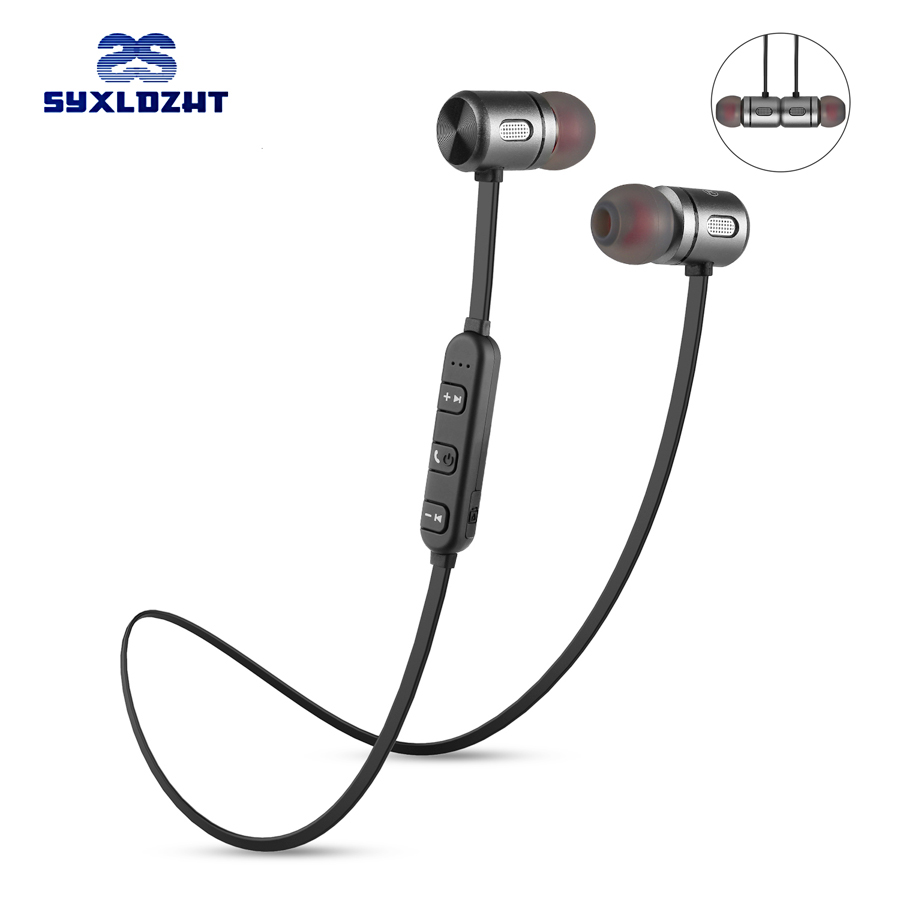 SYXLDZHT Bass Bluetooth Earphone Sport Wireless Headset With Mic Magnetic Hifi Stereo Earbuds Earphones For Phone auriculares kz ates ate atr hd9 stereo sport earphones with mic for phone earphone dj earpieces bass headset runing earbuds hifi ear phones