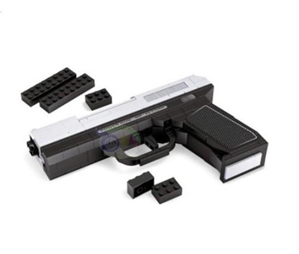 все цены на Air Gun  new Army Pistols Air Gun Enlighten Building Block Set 3D Construction Brick Toys Educational Block toy for Children онлайн