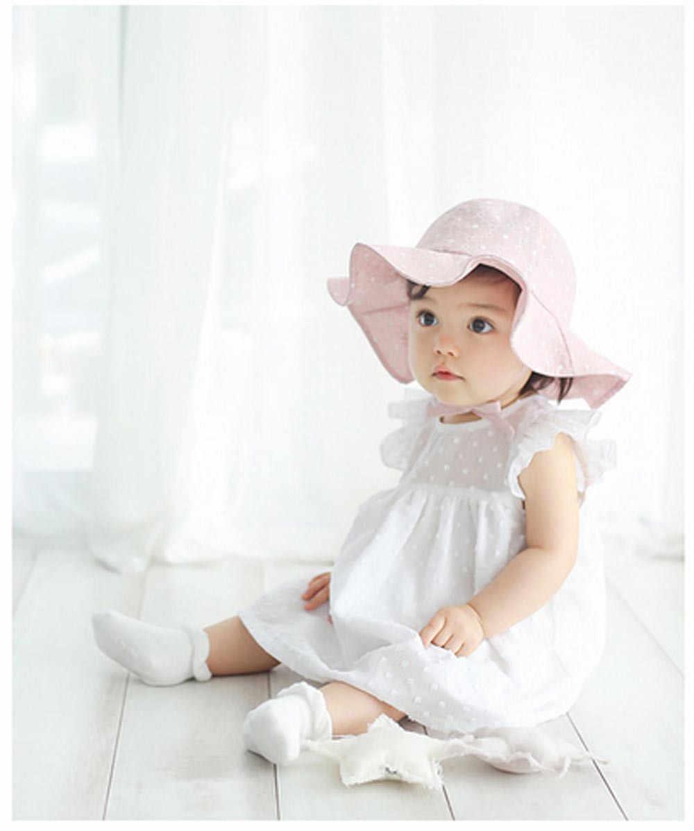 a7871bfae1cf38 ... CHAMSGEND Baby Hats Toddler Infant Kids Sun Cap Summer Outdoor Baby  Girls Boys Sun Beach Cotton ...