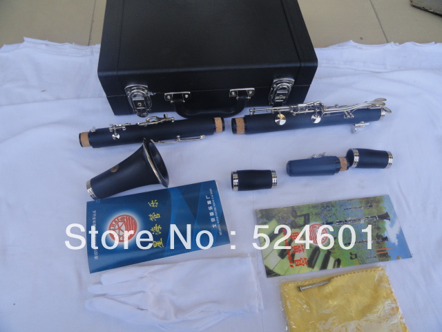 Wholesale beautiful gift xinghai stock 17-key clarinet Bakelite drop B tuning