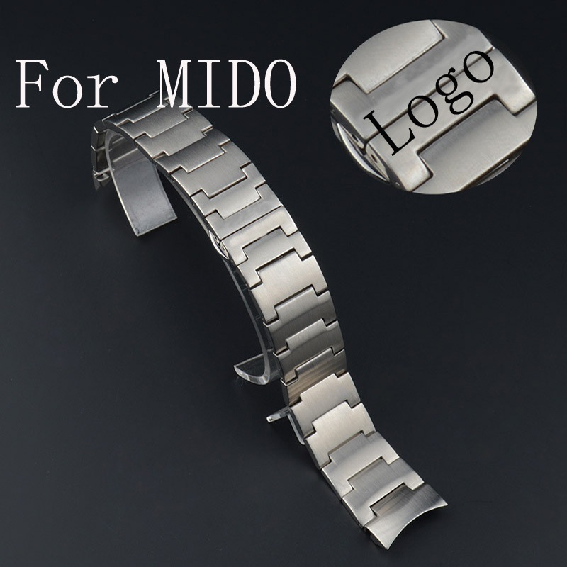 Luxury Band,Silver 20mmStainless Steel Mesh Watch Strap Watchband With Fold over clasp For MID O With Original Logo,Free Shiping все цены