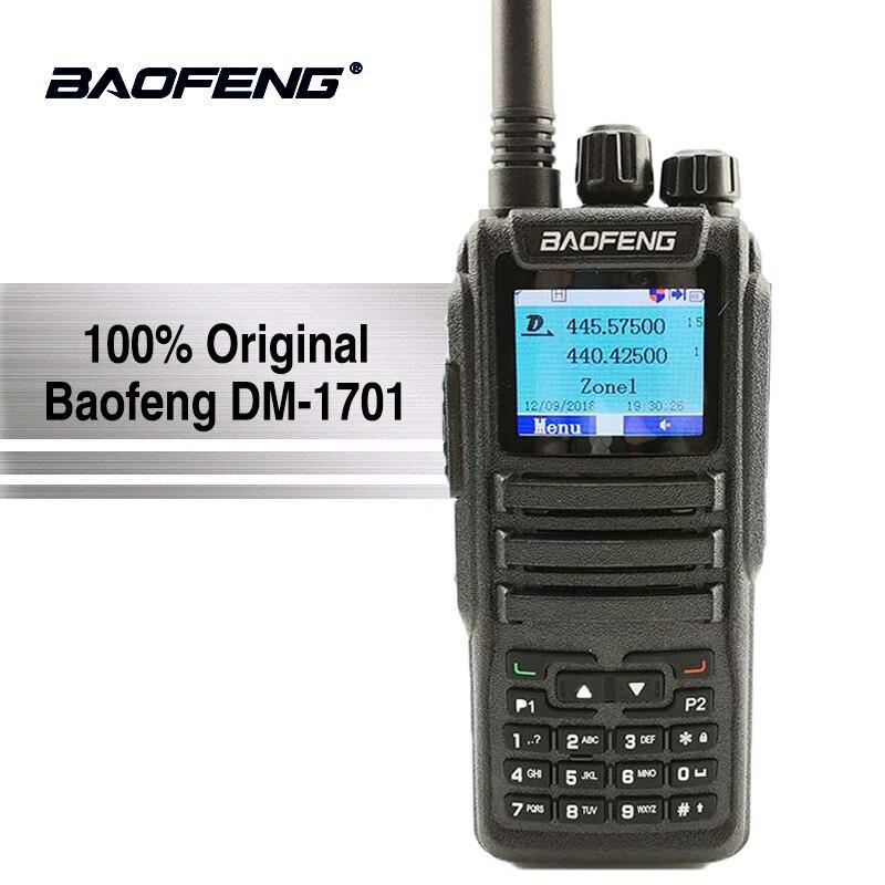 Baofeng Digitale DM-1701 Walkie Talkie Livello 2 Dual Slot di Tempo Dual Band A Due Vie Radio DMR Ham Amateur Radio Stazione HF Ricetrasmettitore