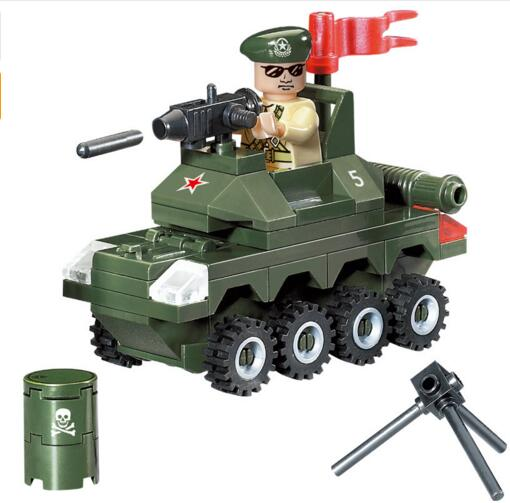 805 69pcs Military Constructor Model Kit Blocks Compatible LEGO Bricks Toys For Boys Girls Children Modeling