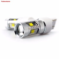 2Pcs Lot 30W White Red 6000K 7443 W21 5W W3X16Q 12V 24V White LED High Power