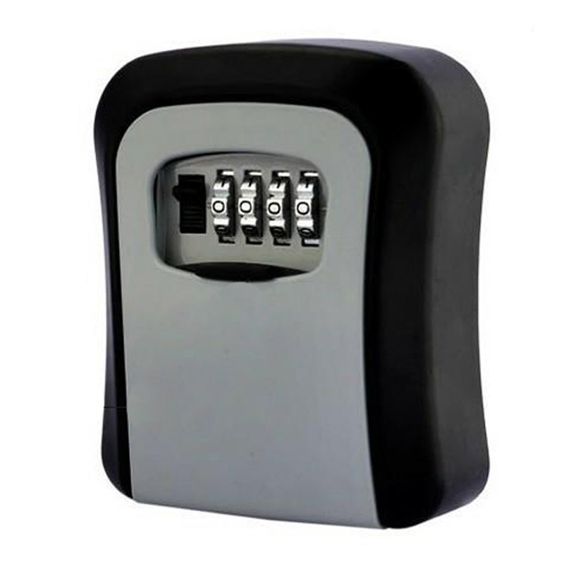 Password Key Security Storage Manager Box 4 Digit Password Metal Secret Manager Box Home Office Key Hidden Security DHZ016
