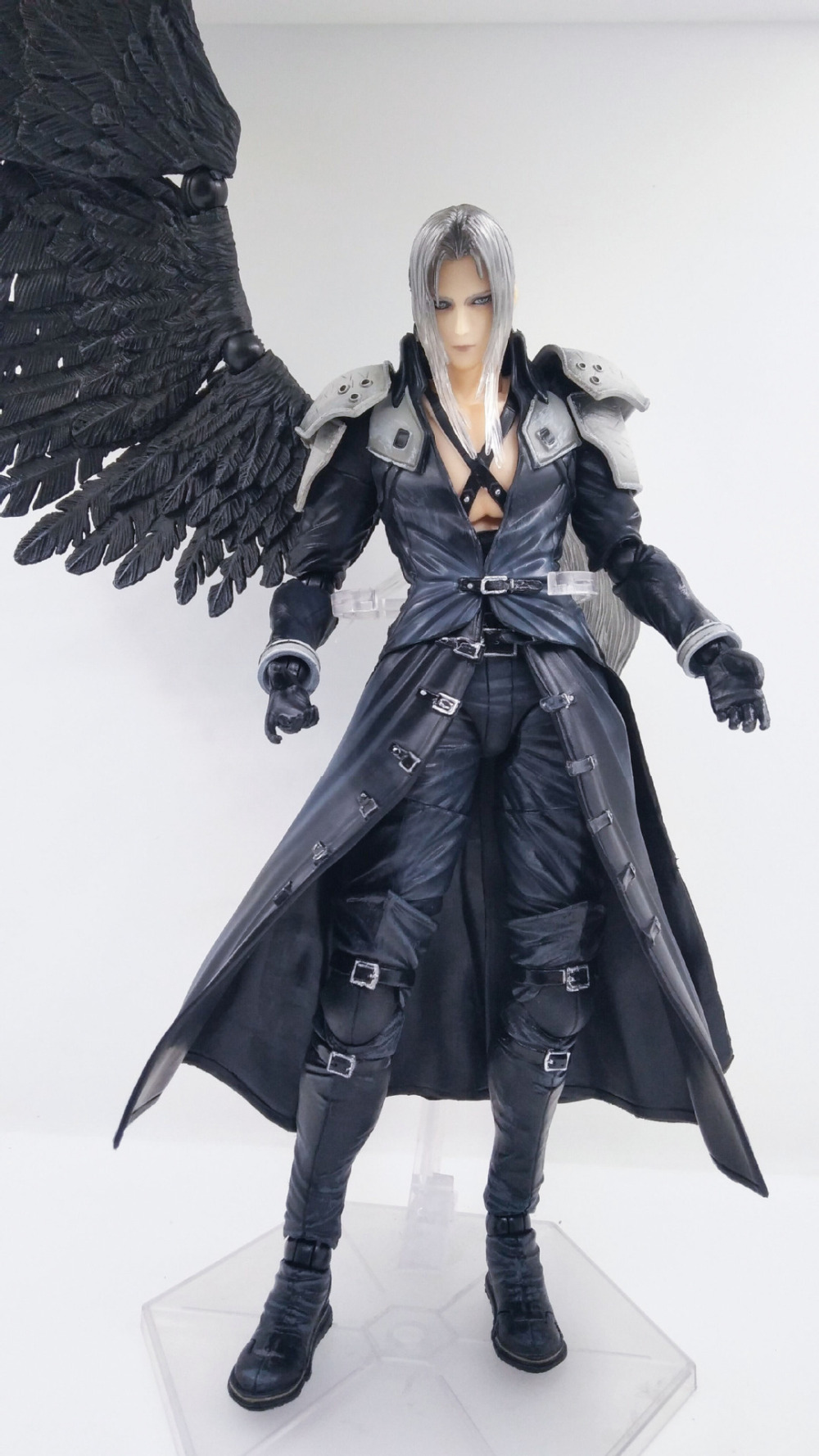 Anime Figure 25CM Final Fantasy VII 7 Sephiroth PVC Action Figure Collectible Model Toys Doll with box моноблок lenovo ideacentre 300 23isu 23 full hd i5 6200u 8gb 1tb 7 2k gf920a 2gb dvdrw free dos gbiteth wifi bt клавиатура мышь cam черный 1920x108