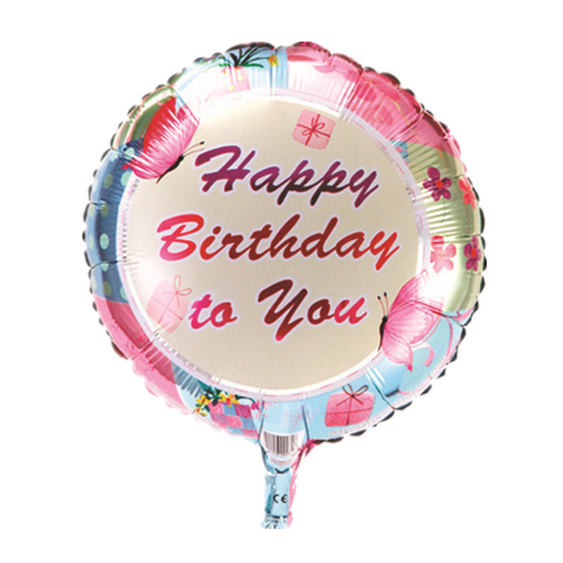 BINGTINA free shipping Hot 18 inch round aluminum birthday balloon birthday part