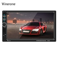 2 DIN 7'' 1080P Car Radio Bluetooth Touch Screen GPS Navigation With Remote Control Rearview Camera Car Video Player Car Audio