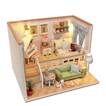 Assembly Because Of You Dollhouse DIY Furniture Miniature Model Kits Children Kids Doll House Toys Birthday Gifts For Friends