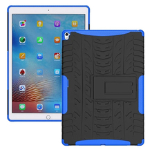 For Apple Pad Pro 9.7 Cover Heavy Duty Hybrid Hard PC Rubber Armor Protective Shell Cover