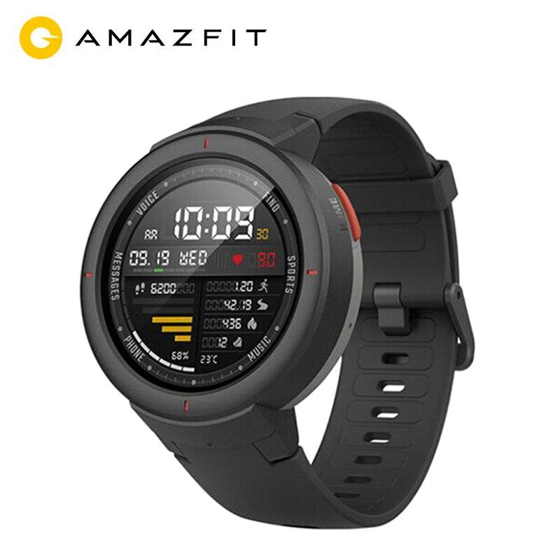 Versão global huami amazfit verge 3 gps relógio inteligente homem ip68 amoled tela resposta chamadas smartwatch multi esportes rastreador de fitness
