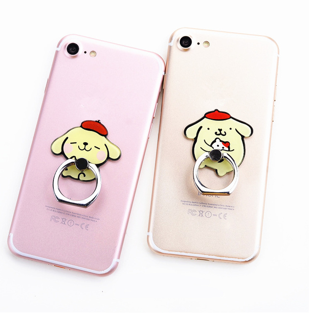 New 1 Piece Cute Cartoon cute mobile phone holder Stand Rings High Quality Metal Phone Finger Ring 2