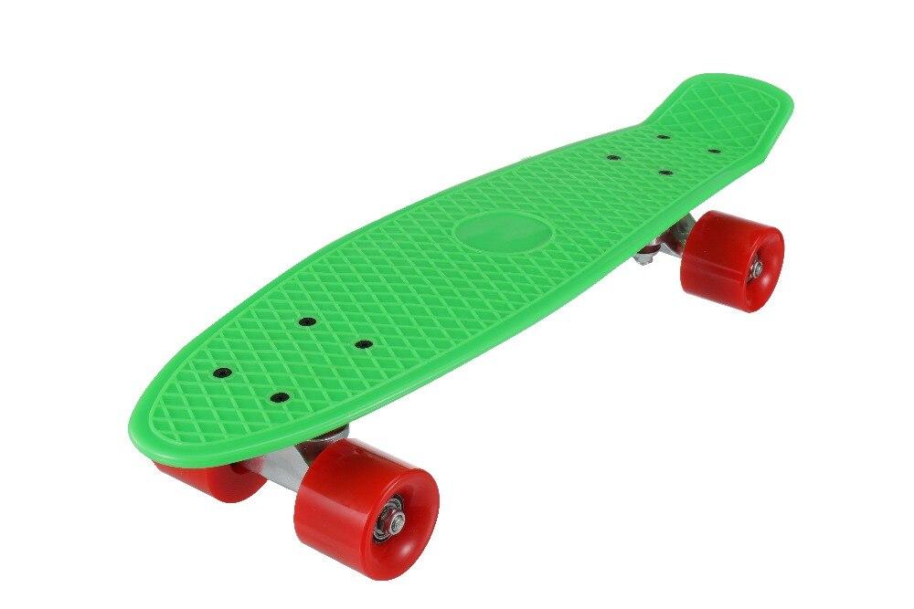 Nuevo 5 colores Pastel cuatro ruedas 22 pulgadas Mini Cruiser Skateboard Street Long Skate Board deportes al aire libre para adultos o niños - 4