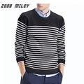 ZOOB MILEY Informal de Los Hombres Suéteres de La Raya Caliente Jerseys de Punto Jerseys O-cuello de Los Hombres de Moda Más Tamaño No Incluye Dentro de Las Camisas