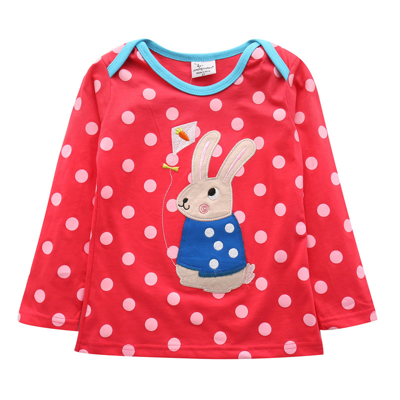 2018 long sleeve children t shirts girls t shirt kids brand cotton kids t shirt for girls children baby clothing jumping meters