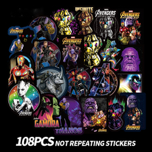 108PCS Marvel movie AVENGERS characters Stickers Toys for Sticker Decal Decoration to Lapt