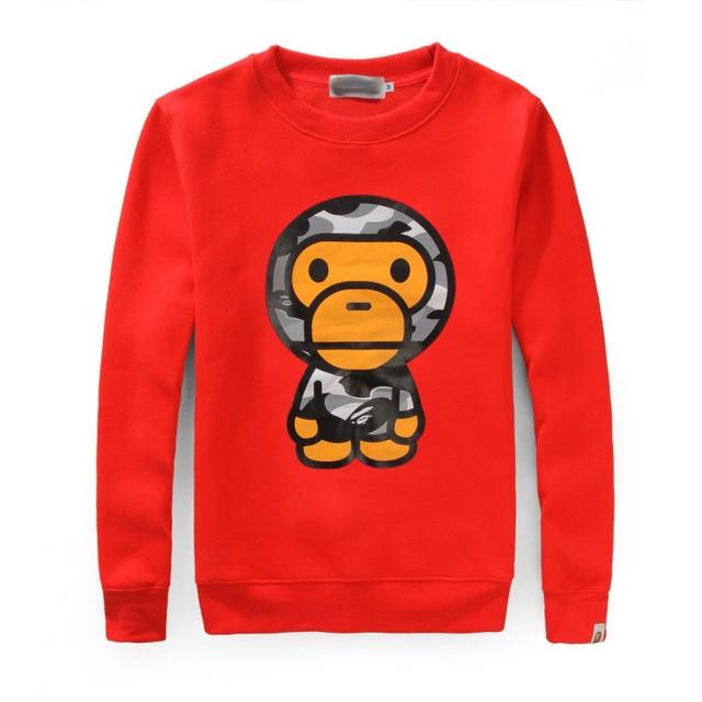cc531314a19a bape sweatshirt 2015 new japan brand baby milo Clothing hoodies Camouflage  Monkey print Men s Sportswear cotton fashion Pullover