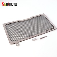KEMiMOTO Motorcycle Accessories Radiator Grill Grille Guard Cover Protector For Suzuki SV650 2016 2017 3 Colors