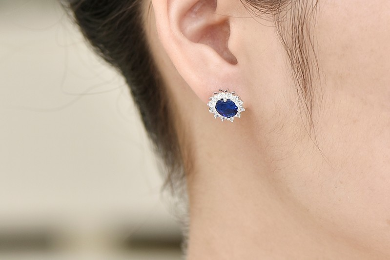 luxury wedding earrings for brides with crystal NE89300L (13)