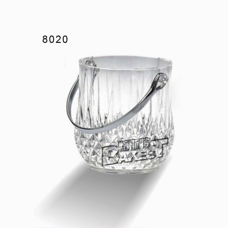 professional crystal clear acrylic ice bucket acrylic tabletop display simple style elegant #8020
