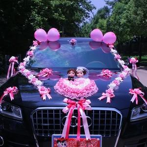 Image 3 - New Arrival  !  Wedding Cars Flower Cars  Wedding Centerpieces Decor  Motorcade Simulation Flowers Set with Bear  Bridal Flower